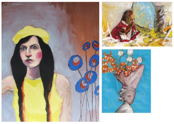 """Laura's Poppies"" and two other paintings by JM Culver"