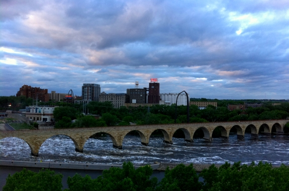 The Mississippi River and Stone Arch Bridge